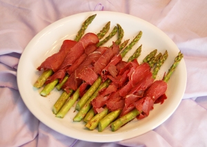 sauteed asparagus with dried beef